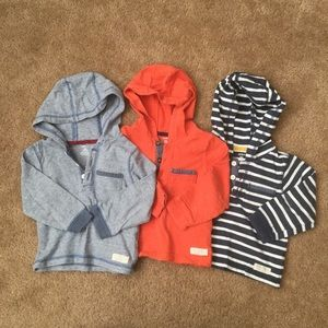 Carter's baby boy 24 mo hooded henley lot